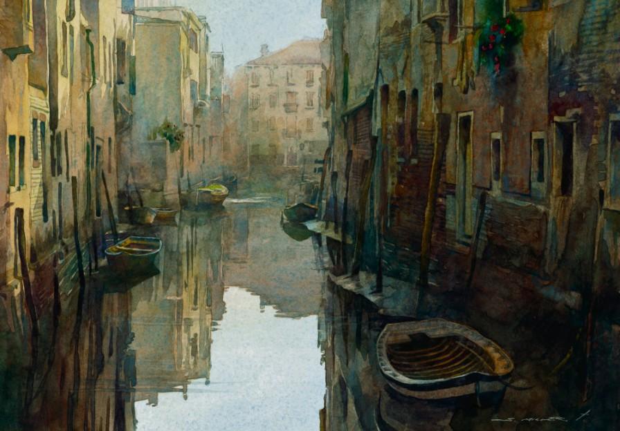 Venice Calm Watercolor